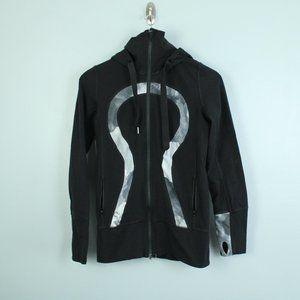 lululemon black zip up stride jacket
